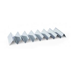 Présentoit à sandwichs en acier chromé-nickel avec 7 étagères, dimensions 57 cm x 17 cm x 4,5 cm
