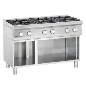 6 Flammen Gasherd 700 Classic mit offenem Unterbau | Kochtechnik/Herde/Gasherde