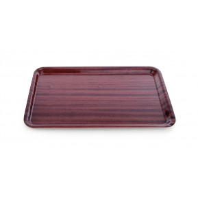 Plateau stratifié aspect bois, antidérapant, 45 cm x 34 cm