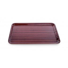Plateau stratifié aspect bois, antidérapant, 60 cm x 45 cm