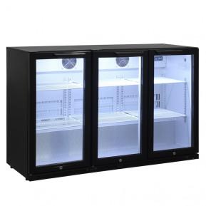 Barkühlschrank ECO 320 Liter mit Klapptüren schwarz   Kühltechnik/Kühlschränke/Barkühlschränke