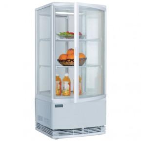 Vitrine réfrigérée POLAR 86L blanche – avec 2 portes vitrées incurvées