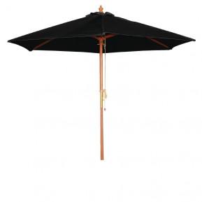 Parasol Bolero rond, noir, 2,5mètres