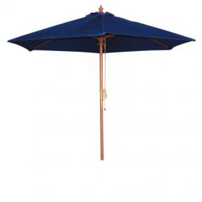 Parasol Bolero rond, bleu foncé, 2,5mètres