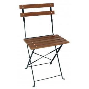 2 chaises de bar Bolero aspect bois