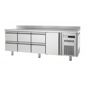 Bäckereikühltisch Premium 1/6 mit Aufkantung