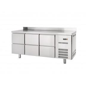 Kühltisch Profi 0/6 mit Aufkantung - GN 1/1 | Kühltechnik/Kühltische/Gastro-Kühltische/Gastro-Kühltische 700