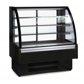 Kühlvitrine Profi 130 - rundes Frontglas   Kühltechnik/Kühlvitrinen/Tischkühlvitrinen