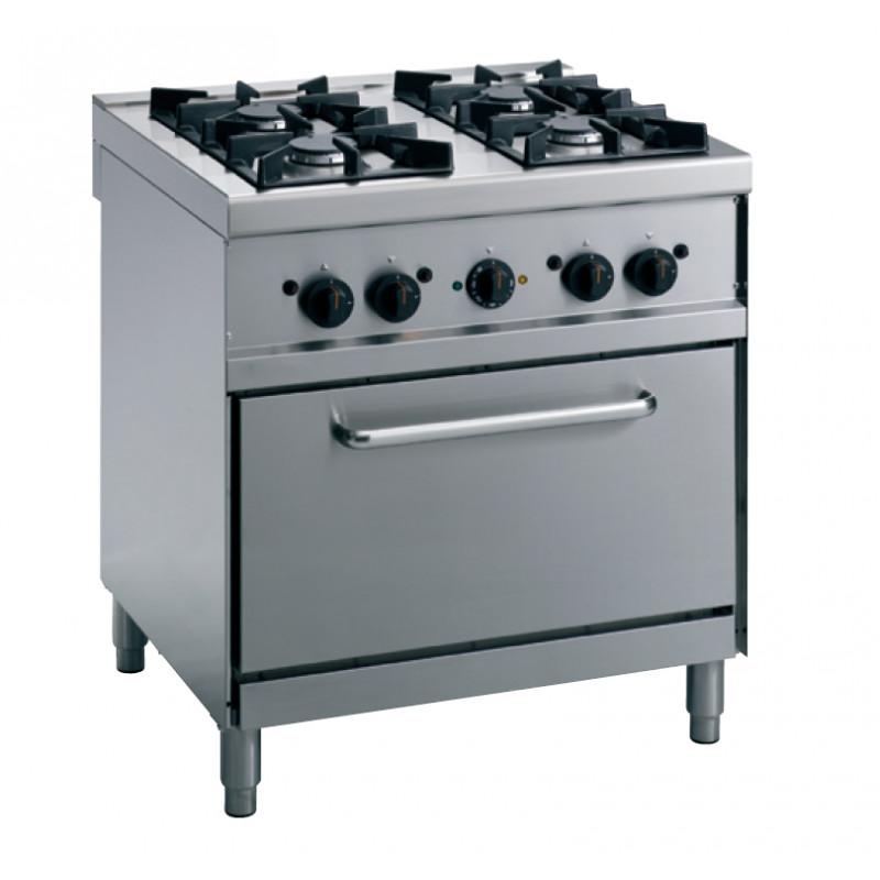 Cuisinière à gaz ECO 70/4 LightLine avec four électrique ...