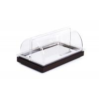 Vitrine à buffet froide APS -FRAMES-  2 Sets, avec capot de protection, noire - 53 x 32,5 cm, H : 27,5 cm