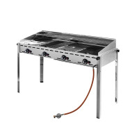 Grillsystem Green Fire, 4 Brenner, 1400x612x(H)825mm | Kochtechnik/Grills/Kombibräter
