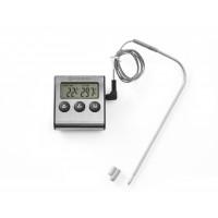 Thermomètre de cuisine avec plongeur et minuterie - 65x70x17mm
