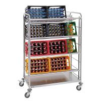 Chariot de transport pour caisses de boissons