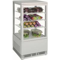 Saro Mini-Umluftkühlvitrine 70L weiß