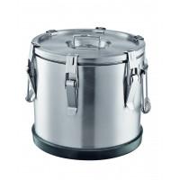 Thermobehälter aus Edelstahl, Ø38 cm - 25 Liter | Lager & Transport/Speisentransport/Speisentransportbehälter