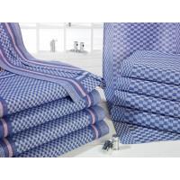 Linceul en coton, bleu-blanc à carreaux, 50 x 100 cm