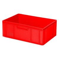 Euro-Stapelbehälter 600x400 mm, 2 Griffleisten, rot - 220 mm | Lager & Transport/Lagerausstattung/Lager- & Transportbehälter