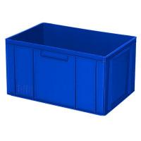 Euro-Stapelbehälter 600x400 mm, 2 Griffleisten, blau - 320 mm | Lager & Transport/Lagerausstattung/Lager- & Transportbehälter