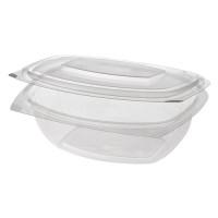 Barquette pour épicerie fine et salade Papstar Pure avec couvercle rabattable – S; en PLA – 50pièces – 375ml