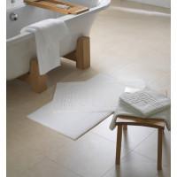 Badematte Zwirnfrottier, 100% Baumwolle, 50x70cm, weiß, 500 Gr./m2