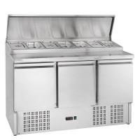 Belegstation ECO 1365 für 7 x 1/3 GN Behälter | Kühltechnik/Kühltische/Belegstationen