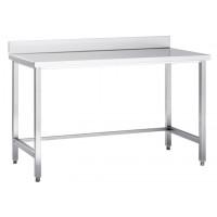 Table de travail en inox adossée Basic 15x6
