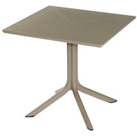 Table Ohio 80 x 80 cm taupe