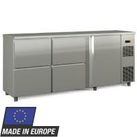 Barkühltisch PROFI 1/4 - Edelstahl