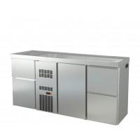 Biertheke Profi 1/2 mit zwei Spülbecken links | Kühltechnik/Biertheken