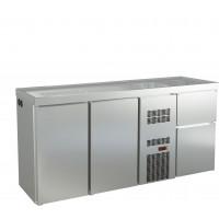 Biertheke Profi 2/0 mit zwei Spülbecken rechts | Kühltechnik/Biertheken