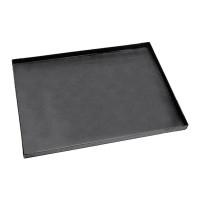 Plaque à pizza rectangulaire en tôle bleue LxlxH 50x35x3cm