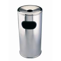 Poubelle avec cendrier Bolero en inox 30x60cm