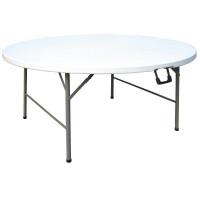 Table de buffet ronde entièrement pliante 1,5 m