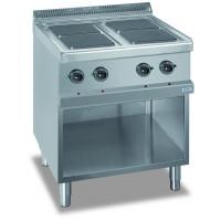 Elektroherd Dexion Serie 77 - 70/70 quadratische Kochfelder