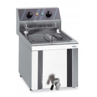 Friteuse électrique Profi 8 l avec robinet de purge, 220 V
