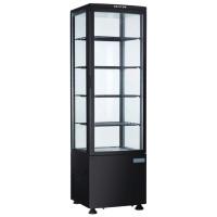 Kühlvitrine Polar 235L schwarz - mit gebogener Glastür | Kühltechnik/Kühlvitrinen/Tischkühlvitrinen