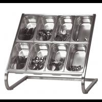 Comptoir à couverts pour 8 x 1/3 GN, inox