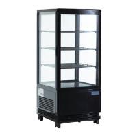 Kühlvitrine Polar 68L schwarz | Kühltechnik/Kühlvitrinen/Tischkühlvitrinen