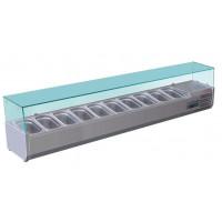 Présentoir réfrigéré Polar 10 x GN 1/4 avec vitrinette