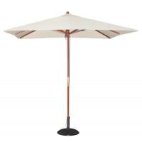 Parasol Bolero carré, couleur crème - 2,5 m
