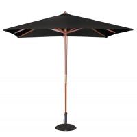 Parasol Bolero carré, noir - 2,5 m
