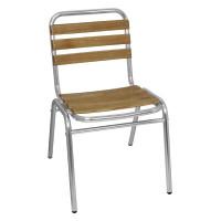 4 chaises en bois de frêne Bolero, empilables