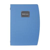 Porte-menu A4 Securit bleu
