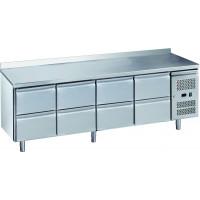 Table réfrigérée ECO0/8 avec dosseret - GN 1/1