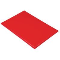 Planche à découper extra large haute densité Hygiplas rouge