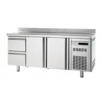 Bäckereikühltisch Premium 2/2 mit Aufkantung