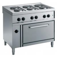Cuisinière électrique ECO 70/6 avec four à air chaud