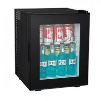 Minibarkühlschrank 32 schwarz mit Glastür