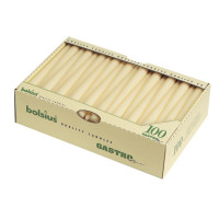 100 bougies longues Bolsius, blanches