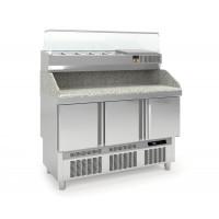 Table pizzaïolo PROFI Mini 3/0 avec présentoir réfrigéré